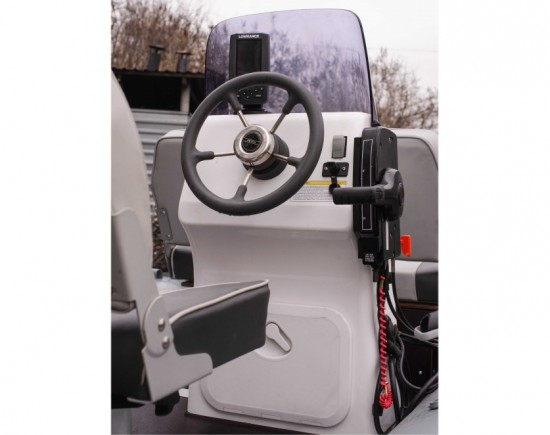 Steering console for boat