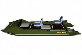 Inflatable lightweight catamaran SMART FISHER 440
