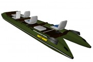 Lightweight catamaran SMART FISHER 640