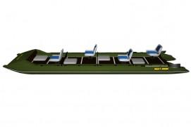 Inflatable lightweight catamaran SMART FISHER 701
