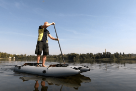 Mini catamaran SUP KAT - alternative to SUP