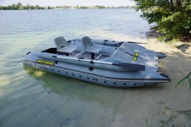 Inflatable catamaran with a raised boat SEA FISHER 410