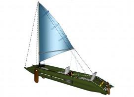 Sailing armament 3 m mast with a grotto, gikom, shverty