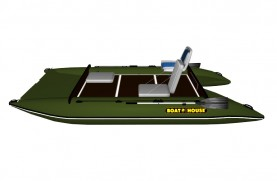 Inflatable catamaran FISHER 390