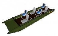Inflatable catamaran FISHER 591